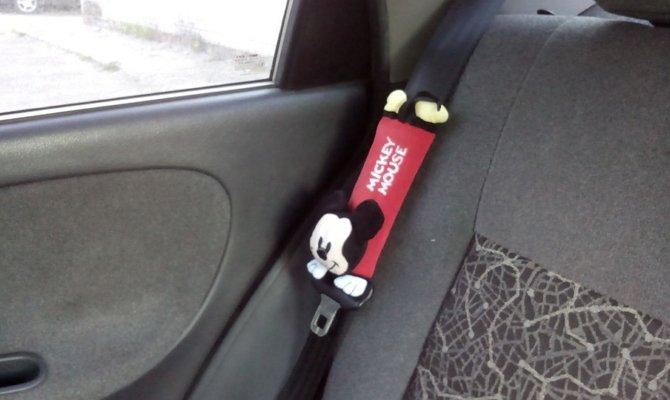 Детская модель накладки на ремень безопасности
