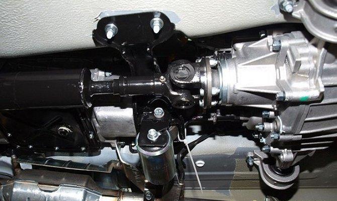 Взаимодействие виброгасителя с силовым агрегатом автомобиля Нива