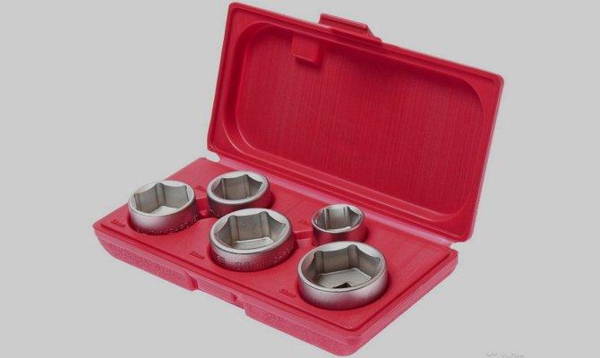 Набор ключей «чашка» для снятия очистителей масла