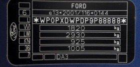 Фото - VIN Ford – свободно читаем символы кодировки