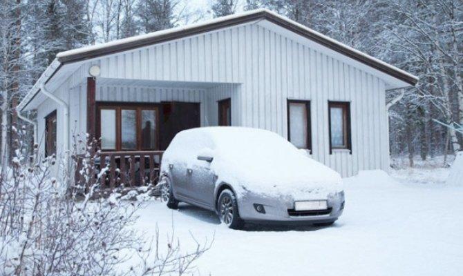 Разогрев машины в мороз