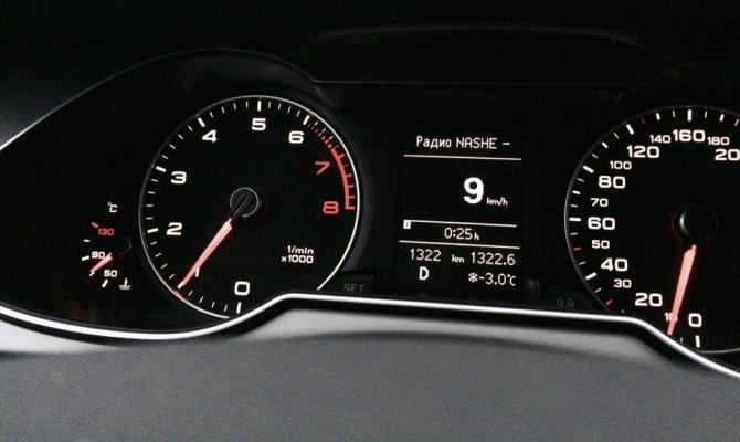 Работа авто на холостом ходу