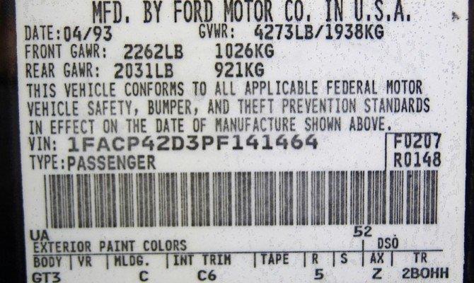 ВИН-код автомобиля