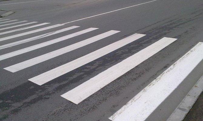 Дорожная разметка типа «зебра»