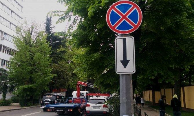 Зона действия запрещающего знака