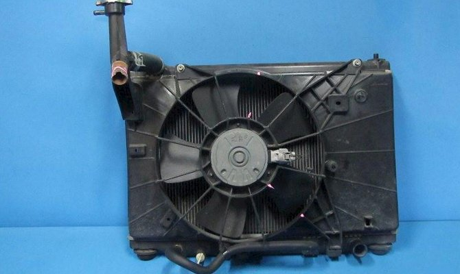 Замена электромоторчика радиатора