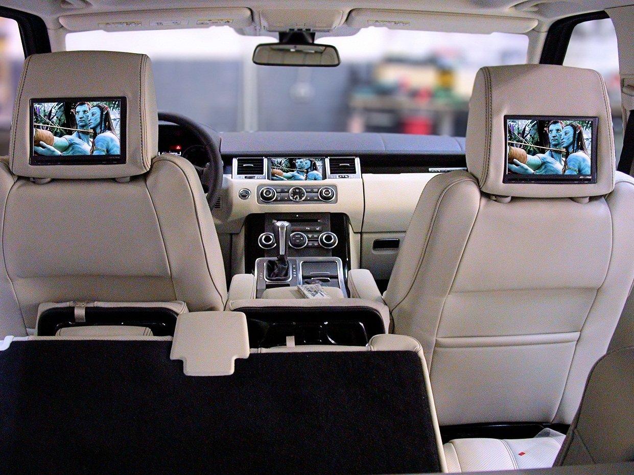 Мониторы в подголовник автомобиля