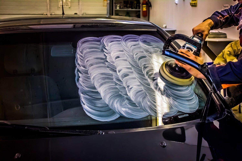 Полировка стекол на авто своими руками