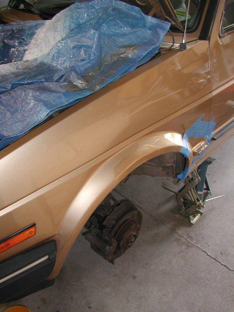 Деталь кузова авто после финишной покраски