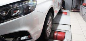 Диагностика мощности двигателя авто на стенде