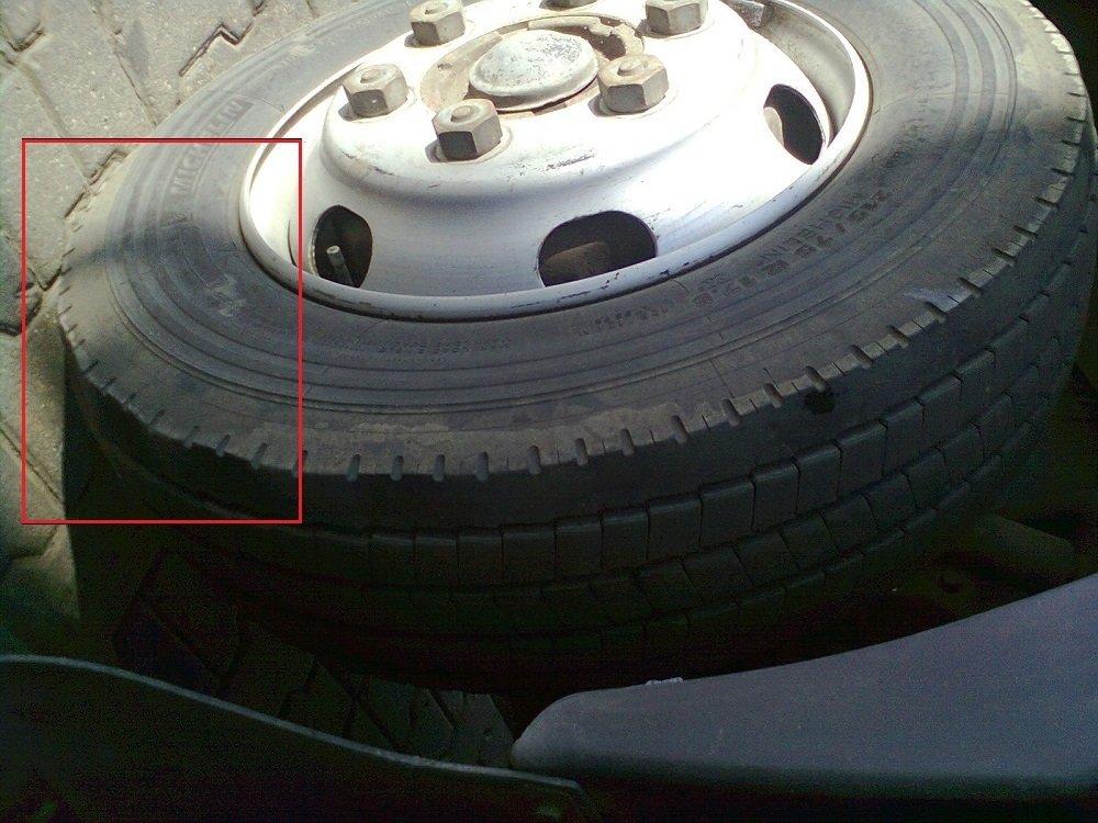 Износ шины вследствие волочения
