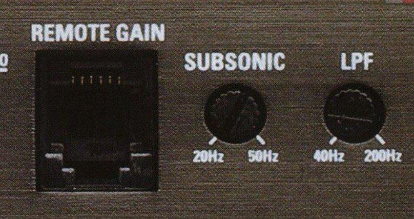 Регулятор фильтра Subsonic