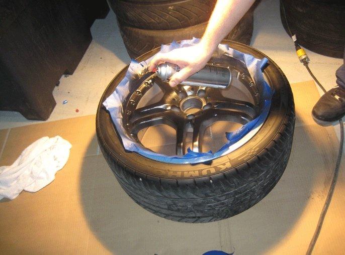 Покраска автомобильного диска