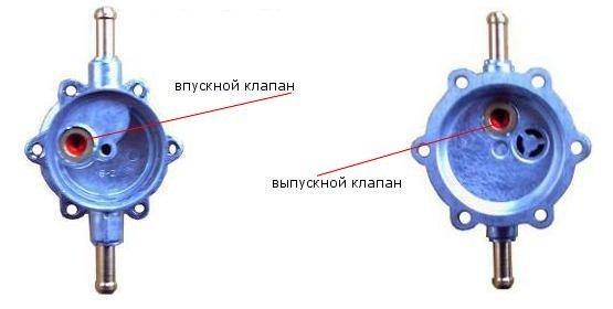 Клапаны механического бензонасоса
