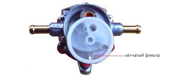 Сетчатый фильтр механического бензонасоса