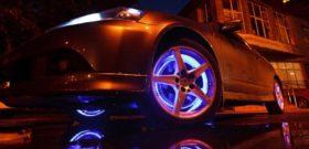 Тюнинг колес авто светодиодной лентой