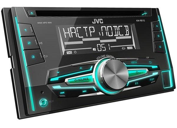 Автомагнитола JVC KW-R510EED с двухцветным дисплеем