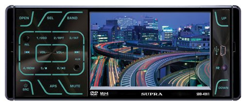 Автомагнитола Supra SDD-4201 с многоцветным дисплеем