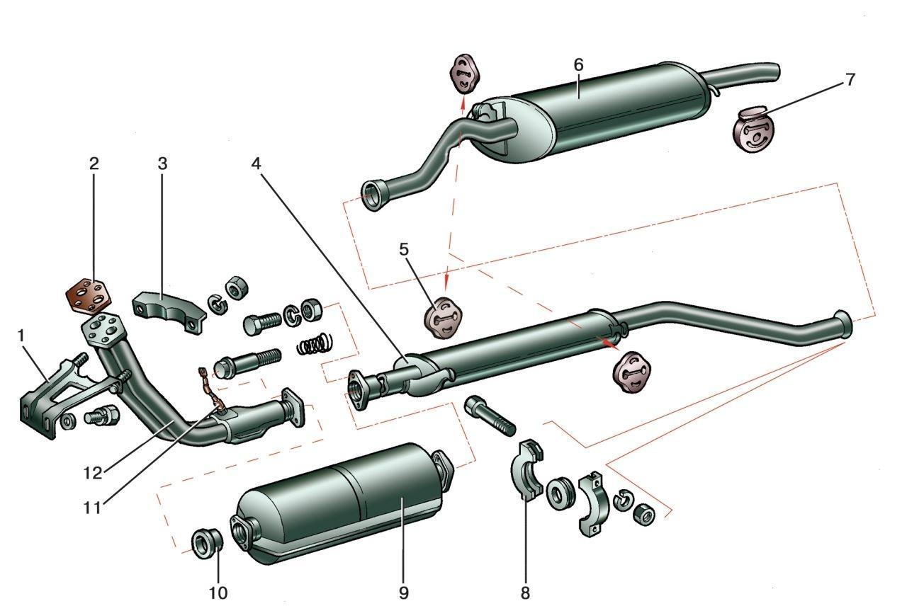 Схема глушителя дастера