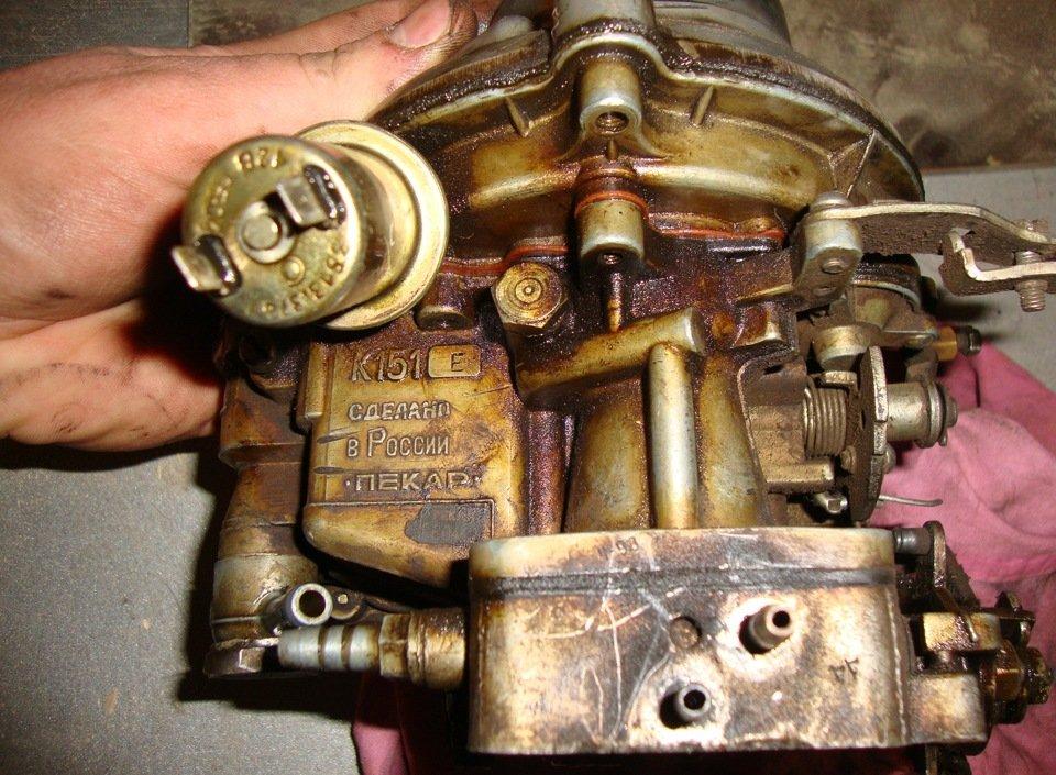 Чистка карбюратора К-151