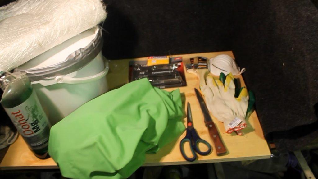 Инструменты и материалы для подиумов