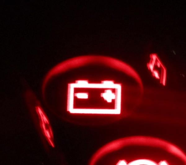 Изображение горящей лампы АКБ