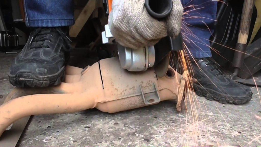 Работа по установке пламегасителя
