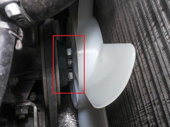 Крепление крыльчатки на помпу ВАЗ 21214