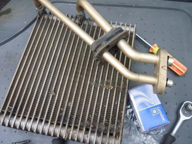 Демонтированный радиатор отполения с Шевроле Авео