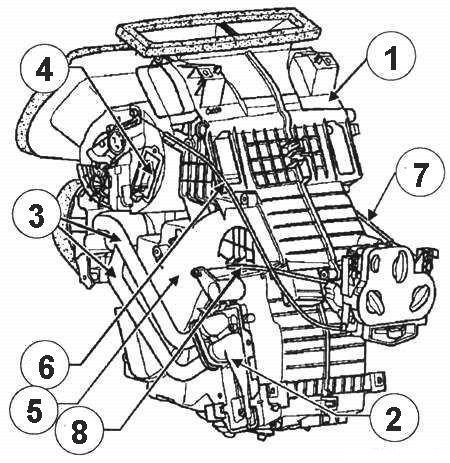 Схема вентиляции рено логан 302