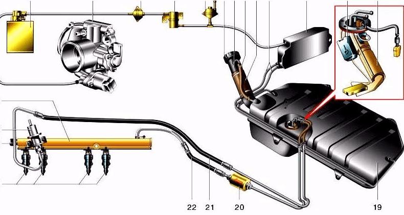 Топливная система ВАЗ 2114