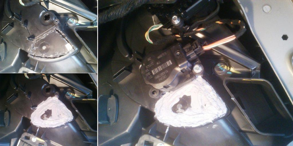 Использование герметика для ремонта корпуса печки