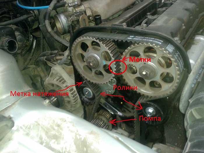 Как совместить метки ГРМ на двигателе 16V «Дэу Нексии»