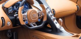 Bugatti Chiron обшивка салона