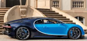Bugatti Chiron вид сбоку