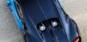 Bugatti Chiron вид сверху