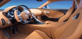 Bugatti Chiron внутри салона