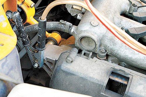 Подключение минусовой клеммы к массе автомобиля-реципиента