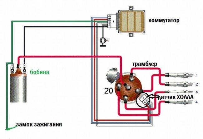 Схема бесконтактного зажигания ВАЗ 2106