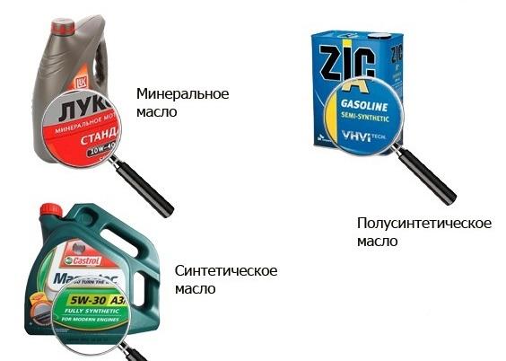 Минеральное, синтетика и полусинтетика