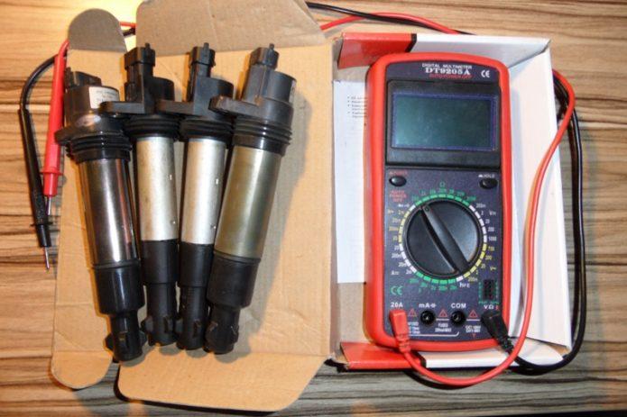 Мультиметр и катушки зажигания