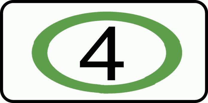Дорожный знак с зеленым кругом