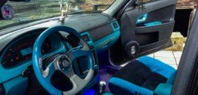 Синий салон седана